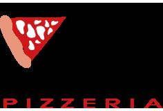 Pizzeria con posti a sedere, pizza da asporto